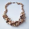 Vintage Huge Shell Necklace - Insides of Shells - Shell Spirals