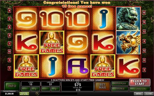 free Thai Temple bonus game
