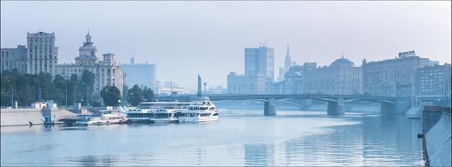 Russia. Moscow. View on Borodinsky Bridge.