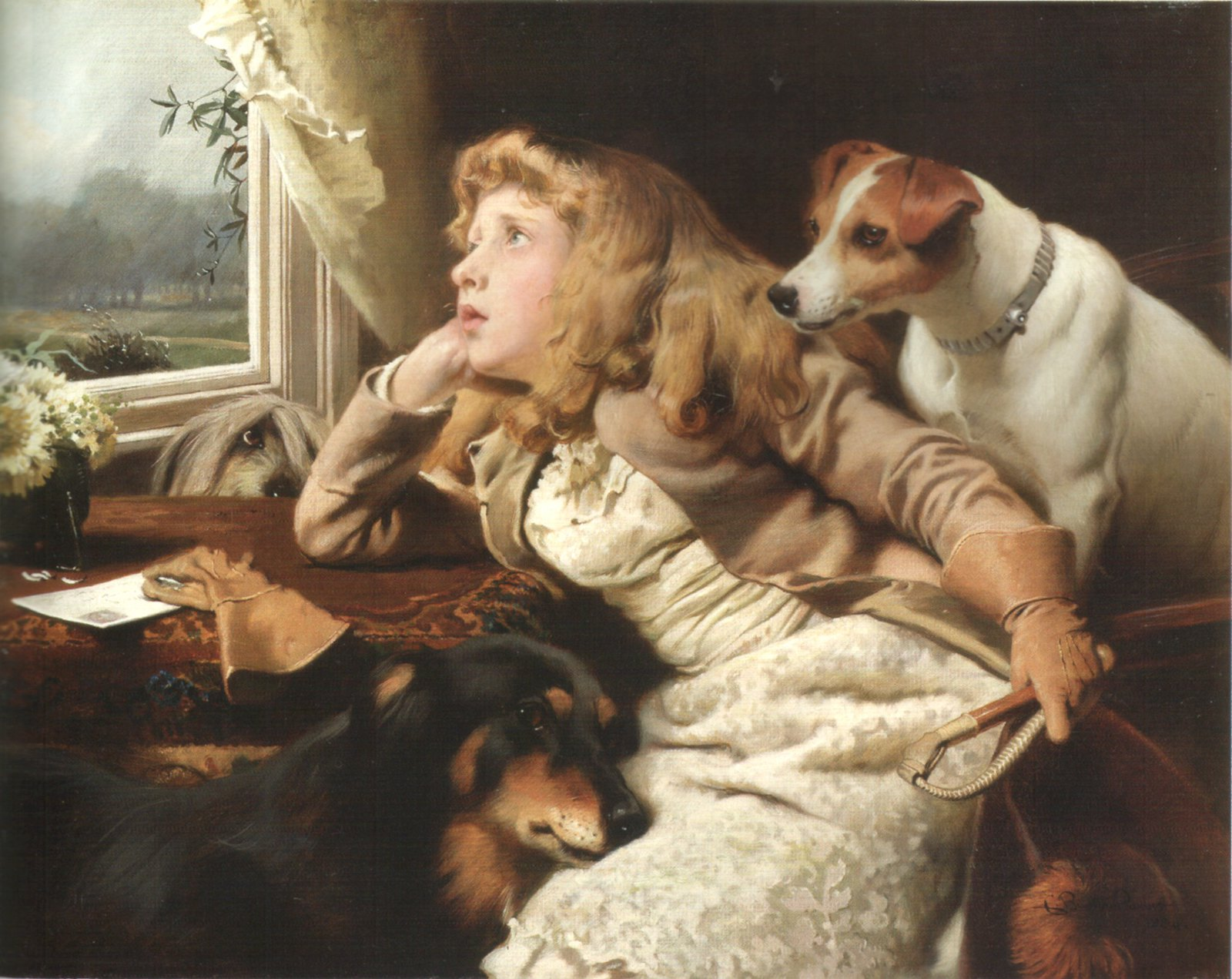 No ride today by Charles Burton Barber