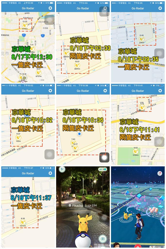 京華城寶可夢-監測數據