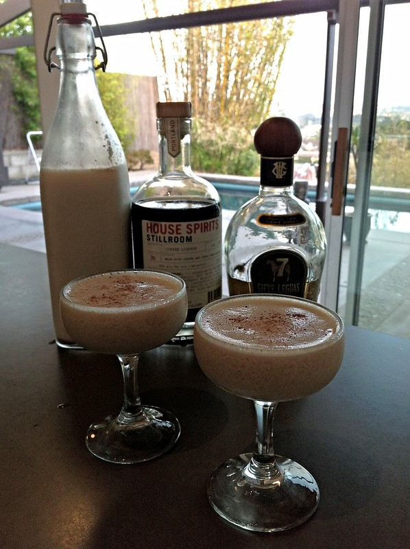 Café Arroz (Jim Meehan) with homemade horchata, Siete Legua anejo tequila, House Spirits coffee liqueur #PDT