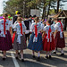 Traditional Hungarian harvest parade on september 11, 2016 in village Badacsony of Hungary.