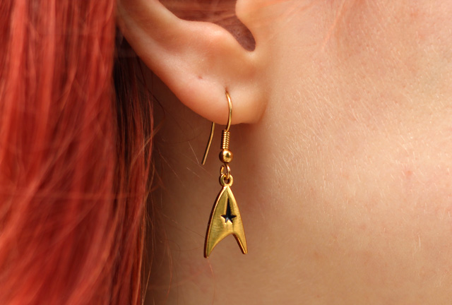 Gold Star Fleet Star Trek Earrings