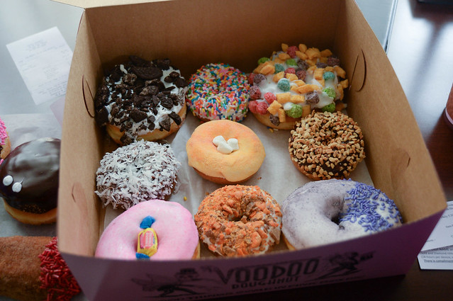 our box of voodoo donuts