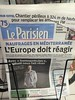 Newspapers Front pages in Paris.