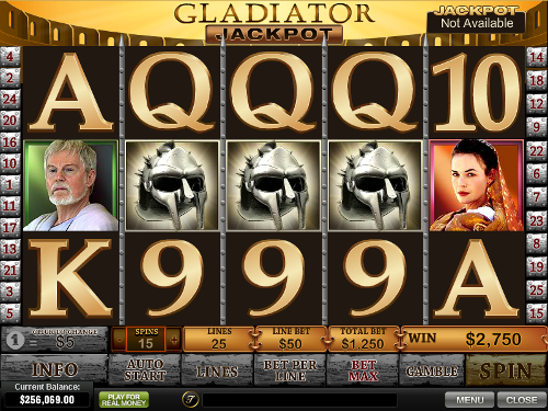 free Gladiator Jackpot slot bonus feature
