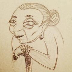 #skatch #illustration #drawing #old #woman