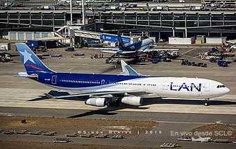 LAN A340-300 CC-CQF taxi in (S.Blaise)