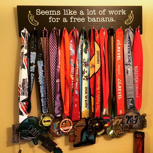 Hung my new medal rack today. Now my #marathon medals have their own rack. Of course, a few medals are too big to be put on the rack. Those have another place. #marathonmaniacs #fitspiraton #instarunners #runchat #runlife #runaholic #runalltheraces