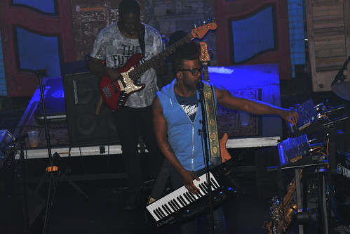 Robert Glasper Experiment at WWOZ Piano Night.  Photo by Kichea S Burt.