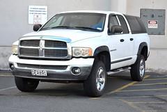 truck(0.0), dodge dakota(0.0), automobile(1.0), automotive exterior(1.0), pickup truck(1.0), wheel(1.0), vehicle(1.0), ram(1.0), bumper(1.0), land vehicle(1.0), motor vehicle(1.0),