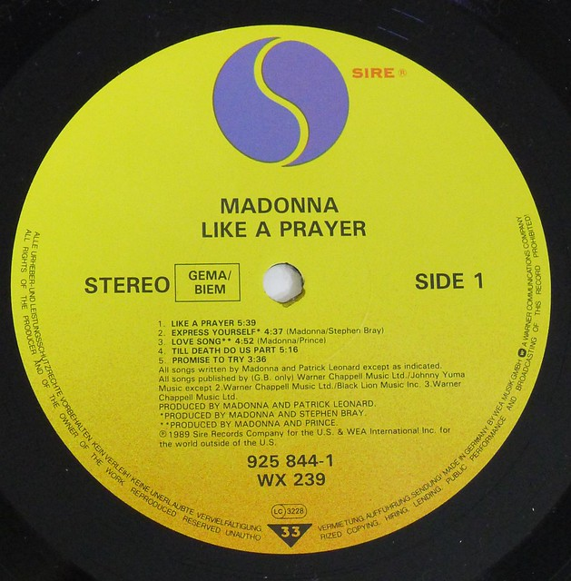 """MADONNA LIKE A PRAYER 12"""" LP VINY"""