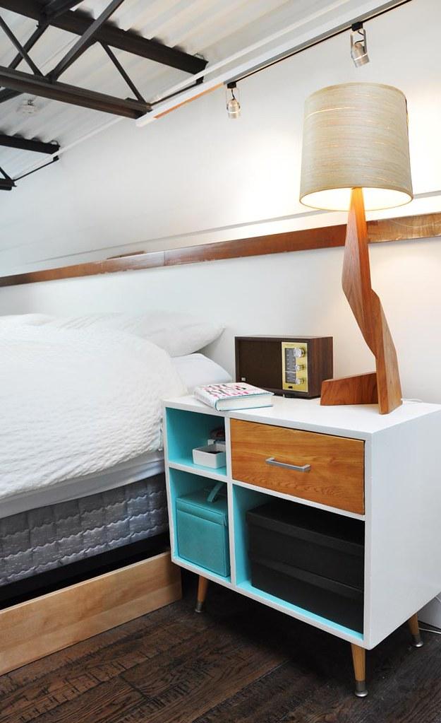 mueble blanco, color y madera