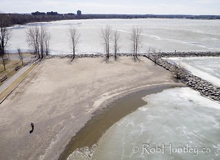 Aerial Photograph - the windsurfer launching beach and me.
