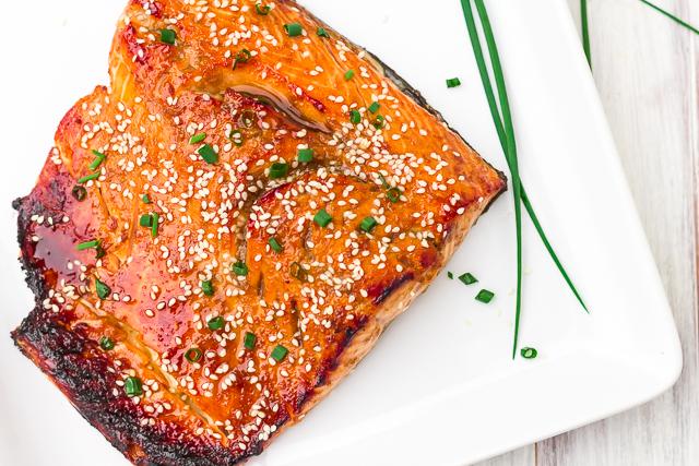 Honey and Ginger Glazed Salmon