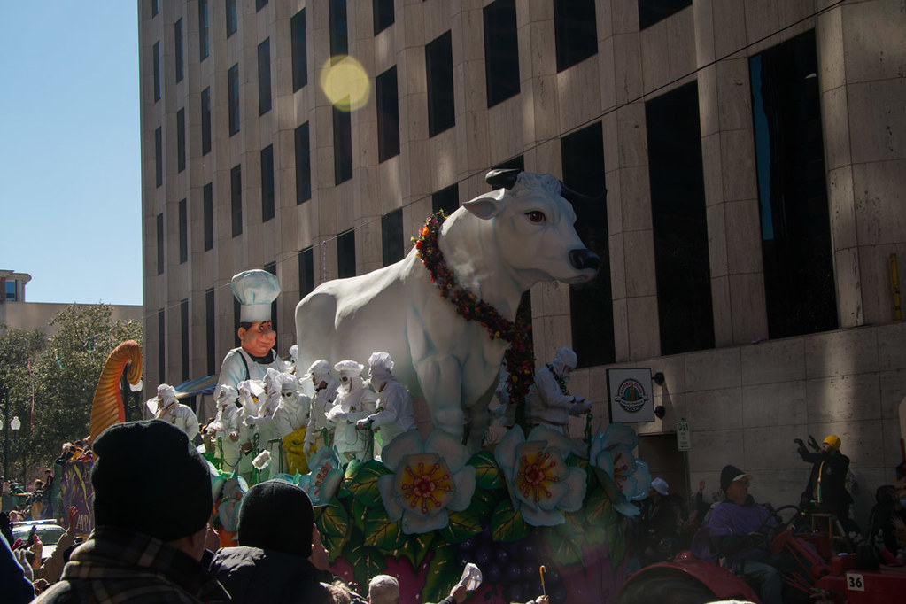 Bull float | Krewe of Rex