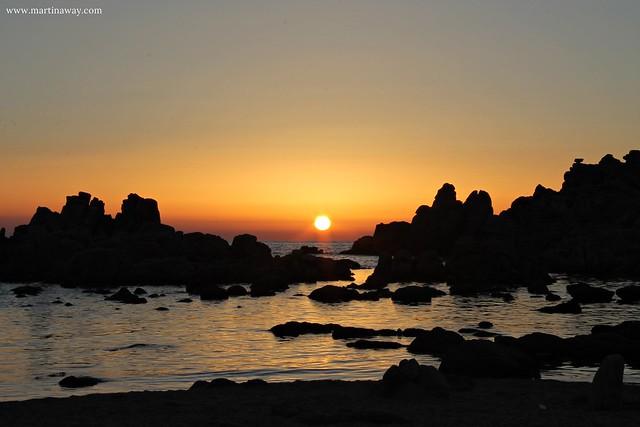 Tramonto dalla spiaggia di Li Canneddi