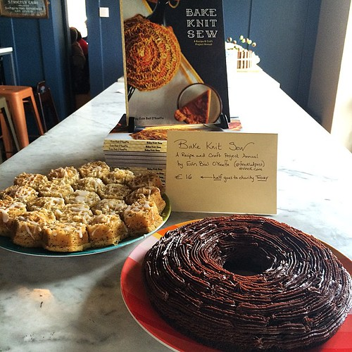 My cakes and books are at @cakeclubcharity in @electriccork. Come eat 3-5p today. Nutella-Cardamom Cake -and- Lemon-Poppyseed Homeycomb Cakes.