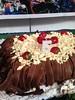 Bolo chocolate com morangos do João Pedro