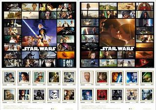 星戰1~6部曲全部收錄!日本郵局推出《星際大戰》主題郵票套裝組