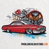 """Throwback Thursday: A bubble top tee design in that weird """"analog-meets-digital"""" stage from around seven or so years ago. #drawingcars #tbt #chevy #bubbletop #409 #illustration #rendering #Belair"""