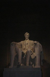 Lincoln, carved in state at the Lincoln Memorial