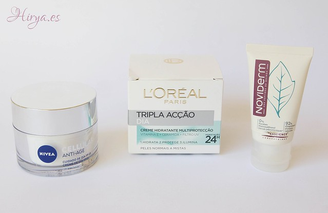 Cellular anti-age Nivea, Triple Acción L'oreal y Boreade SL Noviderm