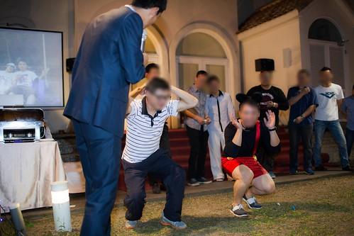 推薦婚宴場地:台南商務會館,米老鼠米奇的特殊結婚婚禮風格互動遊戲--體能測試