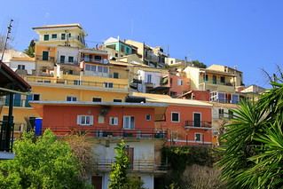 Corfu - Pelekas - houses on the hillside | by muffinn