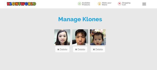 Manage Klones