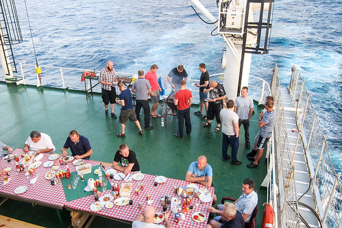 Barbecue at sea
