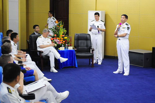 US 7th Fleet, Chinese South Sea Fleet Leaders Conduct 'Staff Talks' in Zhanjiang