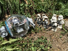 """""""You weaponized a bubble car?"""" """"Ya, they're safer than Speeder Bikes and Ewok proof."""""""