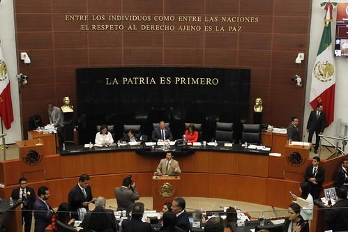 El día 21 de julio del 2016 se llevó a cabo en el Senado de la República la Sesión de la Comisión Permanente.