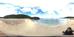 Jumping off the rock at Waimea Bay - a 360 degree Equirectangular VR (with video link below)