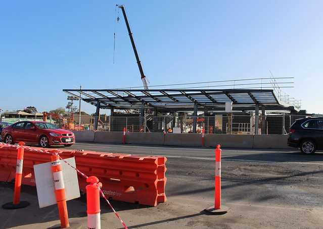 Ormond station under construction, July 2016