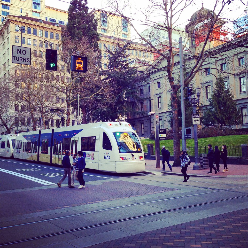 Downtown Portland Trams