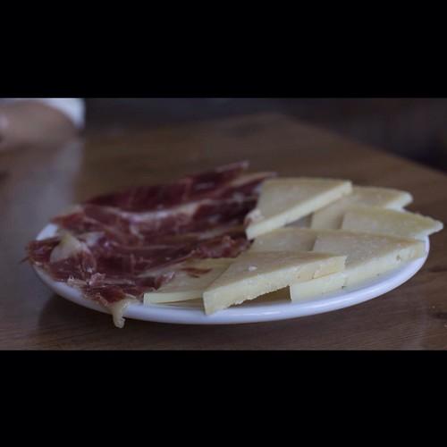 Manchego cheese en Venta de Cardenas. Restaurante casa pepe.