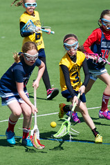 hurling(0.0), tackle(0.0), stick and ball games(1.0), sports(1.0), stick and ball sports(1.0), lacrosse(1.0), team sport(1.0), women's lacrosse(1.0), player(1.0), ball game(1.0),