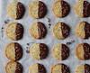Lavender dark chocolate-dipped Earl grey shortbread cookies