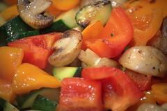 mushrooms peppers zucchini
