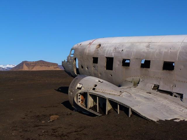Avión norteamericano abandonado en Islandia