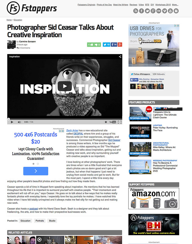 Fstoppers mentions Inspiration video