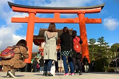 Looking at the gate of Inari Shrine