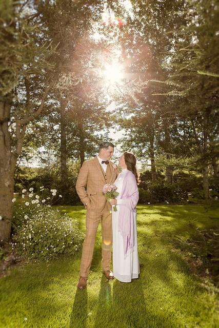 Sigga and Tony on their weddingday