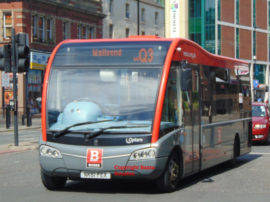 633 go north east optare solo sr on nexus bus on quaylink service q3