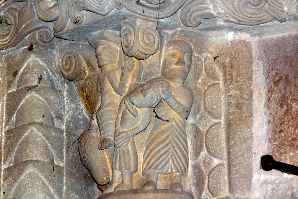 Capitel del románico asturiano