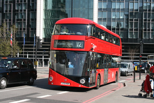 London Central LT438 on Route 12, County Hall