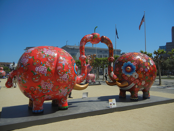 DSCN3165 - Fancy Animal Carnival by Taiwanese artist Hung Yi (洪易) at SF Civic Center
